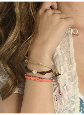 Pack Pulseras Coral